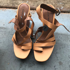 Lucky Brand Wedge Tan Sandals